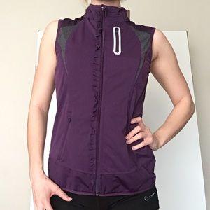 Athleta women's small purple running vest